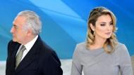 Der brasilianische Präsident Michel Temer mit seiner 43 Jahre jüngeren Frau Marcela. Nach nicht einmal zwei Wochen sind die beiden aus dem Präsidentenpalast ausgezogen.