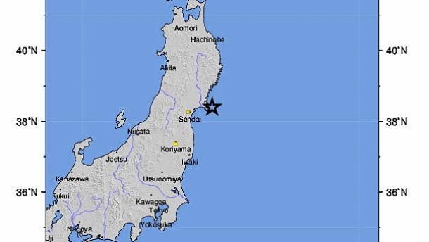 Schweres Erdbeben im Nordosten Japans