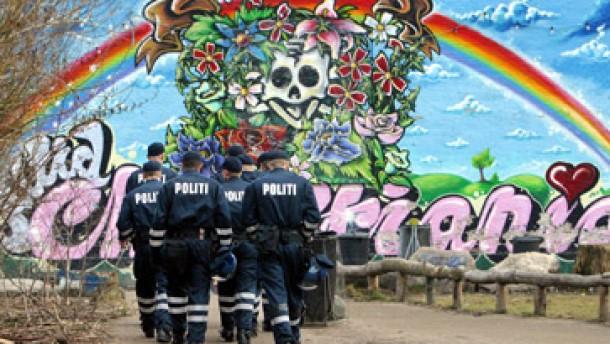 Haschisch-Razzia in Kopenhagens Hippie-Viertel