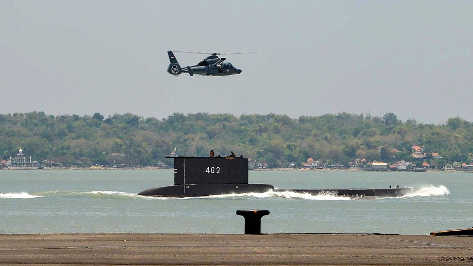 Das U-Boot KRI Nanggala-402 ist auf einem undatierten Foto des indonesischen Militärs zu sehen.