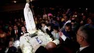 Großer Andrang: Ankunft der Marienstatue aus Fátima in Panama