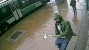 Mit einem Beil hatte der Täter die Polizisten in New York angegriffen.
