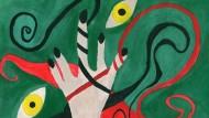 Kunst als Therapie: Dieses Bild hat Berg-Peers Tochter Lena im Jahr 1998 während eines Aufenthaltes in der Psychiatrie gemalt.
