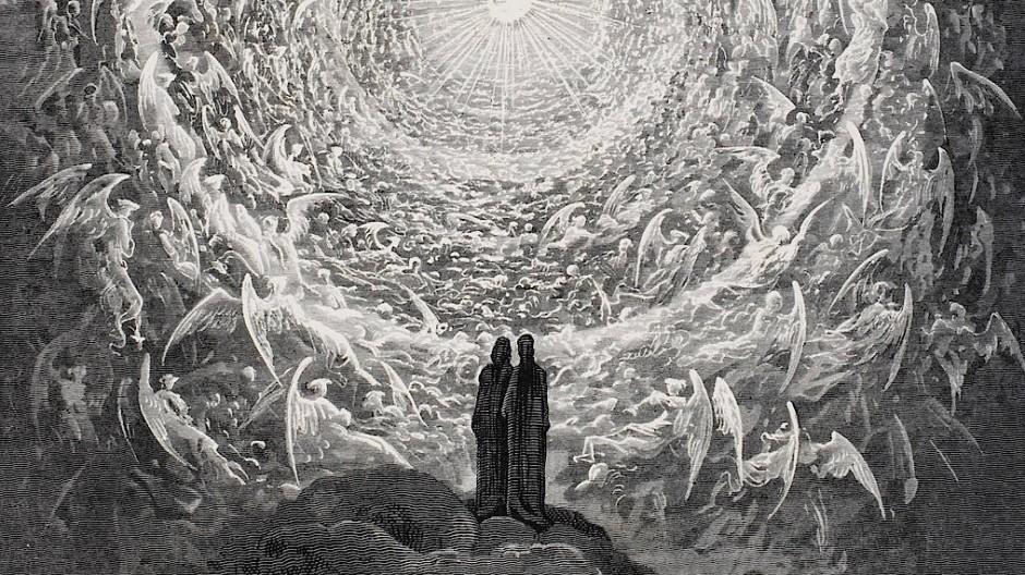 Alles dreht sich um die Zukunft: Gustave Dorés Vision von Dante im Paradies