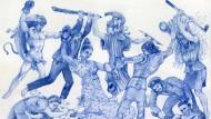 """Eine Exkursion durch die Geschichte: Christophe Chemins Zeichnung """"The Important Ones""""."""