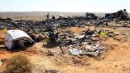 Das Trümmerfeld des Airbus-Absturzes