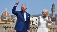 Royal reisen und auf Dinge zeigen