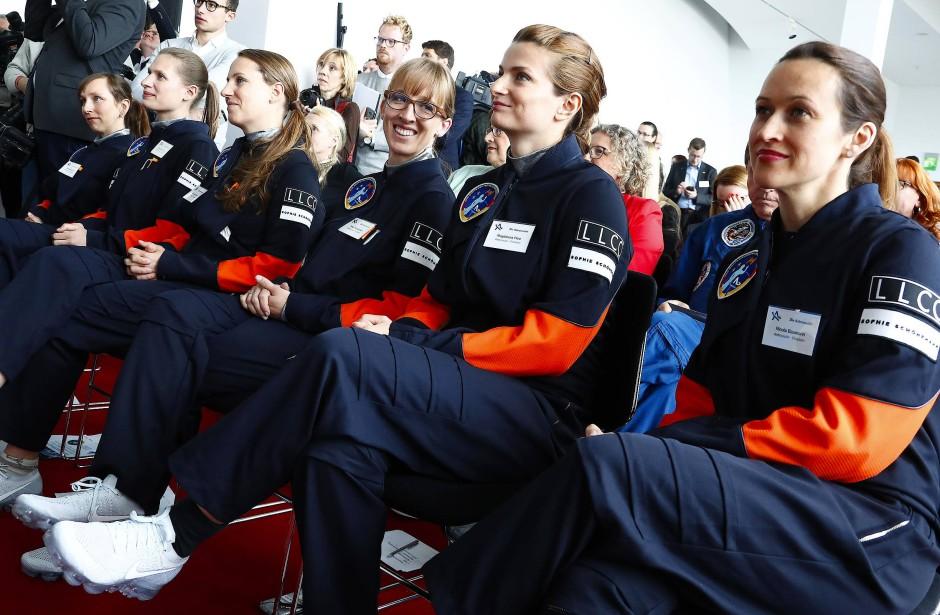 Die Bewerberinnen des Wettbewerbs am 19. April in Berlin