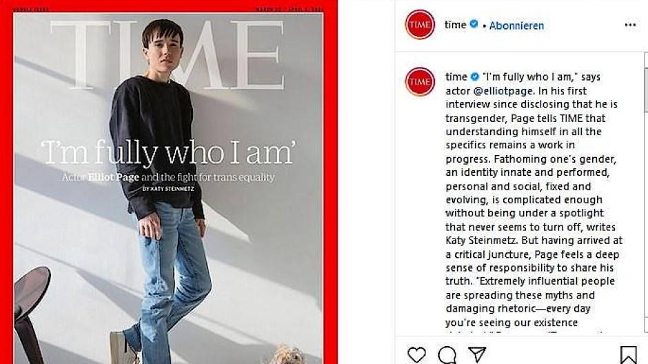Elliot Page auf dem Cover des Time-Magazins