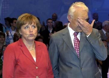 Merkel und Stoiber im Juli beim Wahlkampf in München