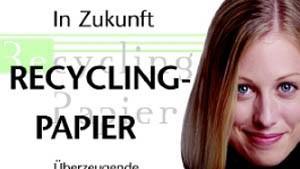 Internationales Projekt für die Nutzung von Recyclingpapier