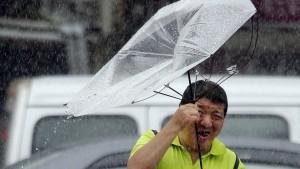 """China ruft für Ostküste höchste Warnstufe wegen Taifuns """"Lekima"""" aus"""