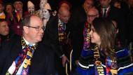 Landesherrscher: Fürst Albert II. mit Pauline Ducruet, der Tochter von Prinzessin Stephanie, in der Fürstenloge des großen Festival-Zelts