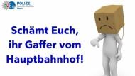 Klare Worte: Die Polizei Hagen kritisiert auf Facebook schaulustige Passanten