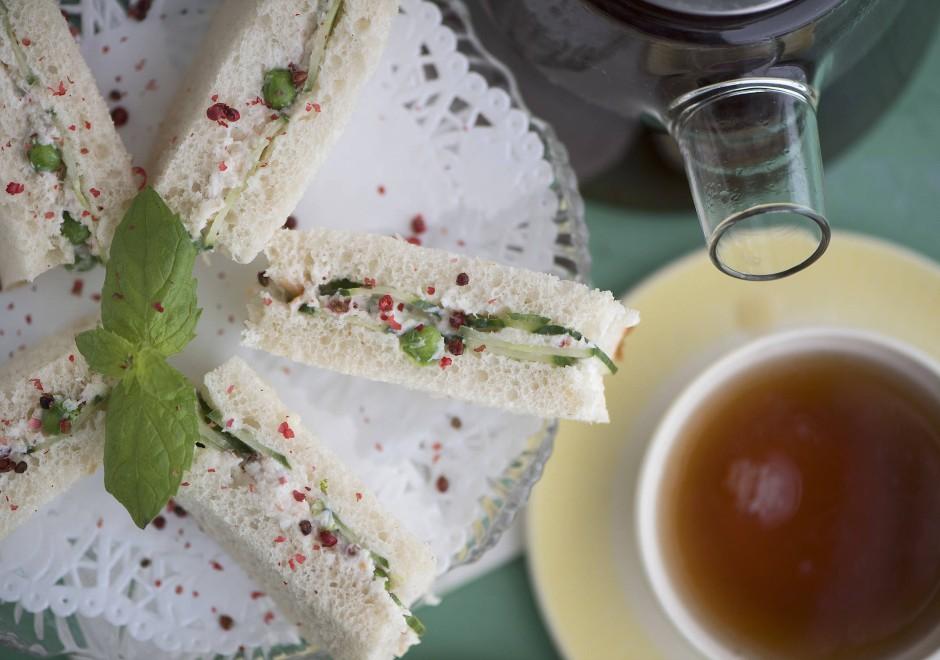 Very british: Gurkensandwich zum Tee