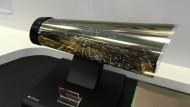 Der nächste Schritt in Richtung elektronisches Papier? Das biegsame Display von LG.