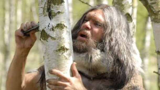 Sah so der neandertaler aus eine menschliche nachbildung
