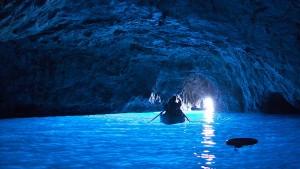 Klum und ihre Hochzeitsgäste baden in der Blauen Grotte