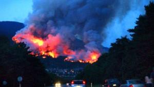 Die Brände in Europa werden nicht weniger