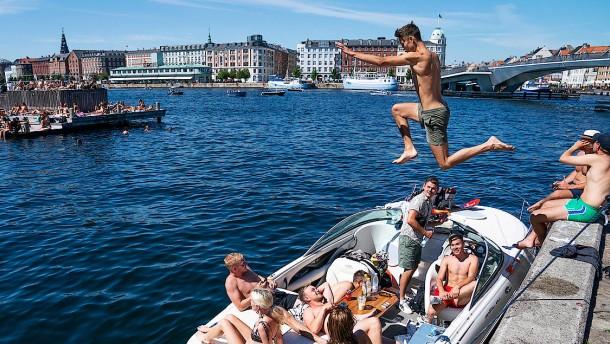 Alle schwitzen von Kopenhagen bis Rom