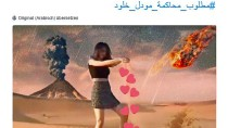 """""""Junge Menschen wollen Freiheit"""", hat jemand neben das Foto der jungen Frau geschrieben, deren Bilder in Saudi-Arabien die Gemüter erhitzen."""