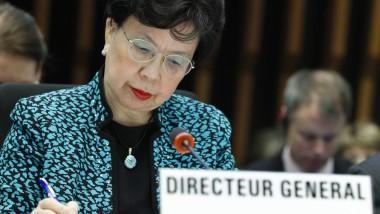 Keine falsche Zuversicht: WHO-Generaldirektorin Margaret Chan in Genf