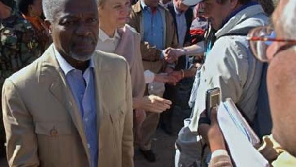 Annan: Internationale Hilfe schwach und langsam