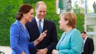 Merkel empfängt William und Kate am Kanzleramt