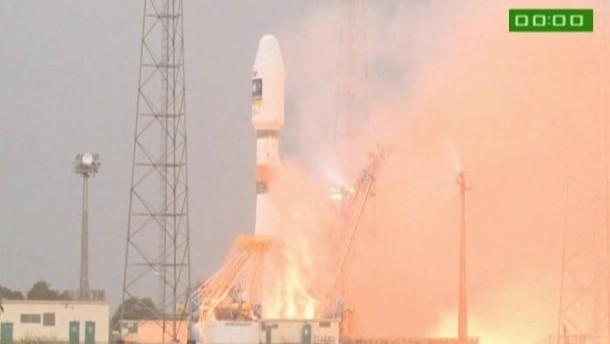 Galileo-Satelliten starten ins All