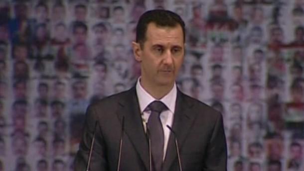 """Syriens Präsident Assad hat sich in einer Rede kompromisslos gezeigt und die Bevölkerung zur """"vollständigen Mobilisierung"""" gegen die Rebellen aufgerufen."""