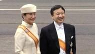 Für Aufsehen sorgten nicht nur die Hüte: Japans Kronprinzessin Masako ging zu diesem feierlichen Anlass erstmals seit Jahren wieder auf Auslandsreise.