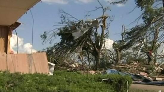 Tornado verwüstet Farm in Kentucky