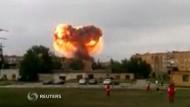 Nach mehreren Explosionen auf einem Militärgelände in Russland haben die Behörden am Dienstag etwa 6000 Menschen in Sicherheit gebracht.