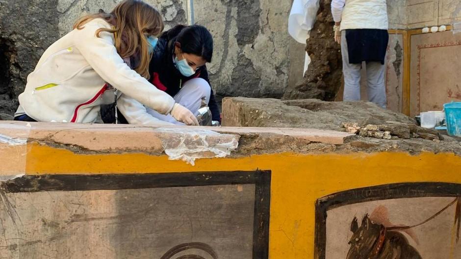 Das Thermopolium, das die Archäologen in Pompeji entdeckten, ist sehr gut erhalten.