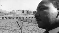 An der Grenze: Martin Luther King am Potsdamer Platz.
