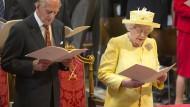 Großer Gottesdienst für die Queen, kleine Feier für Prinz Philip