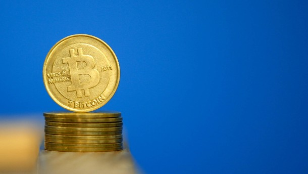 Bitcoin virtual currency coins are seen in an illustration picture