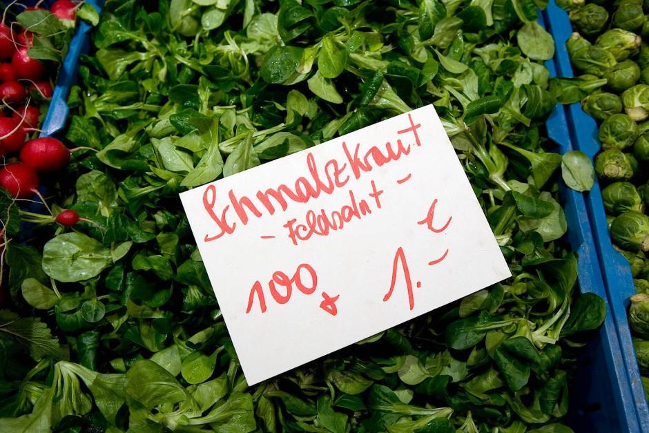 Feldsalat ist preiswert, gesund und löscht den Durst.