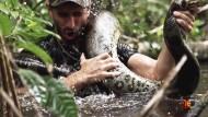 Schlange isst Mensch