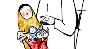 Das Lächeln Madonnas für Kinder in Not
