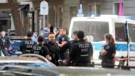 Viel Polizei am Berliner Adenauerplatz