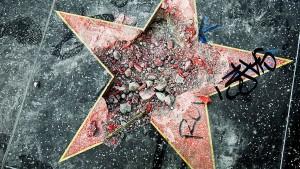 Hollywood-Stern von Donald Trump zertrümmert