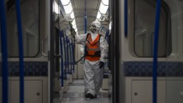 Banksy sprüht Corona-Kunstwerke in U-Bahn-Waggons