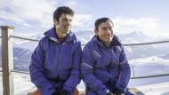 Fast am Gipfel: Alishah Farhang (links) und Sajjad Husaini in St. Moritz