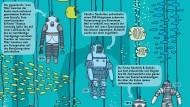 """Illustration aus dem Buch """"Unter der Erde - Tief im Wasser"""" von Aleksandra Mizielińska und Daniel Mizieliński"""