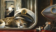 """Was für ein Glück, dass die Schiffskatze in Torben Kuhlmanns """"Edison"""" längst zu fett und zu verwöhnt ist, um sich mit der Mäusejagd abzugeben."""