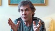 Entertainment ist auch Eskapismus: Dickinson beim Gespräch in Berlin.