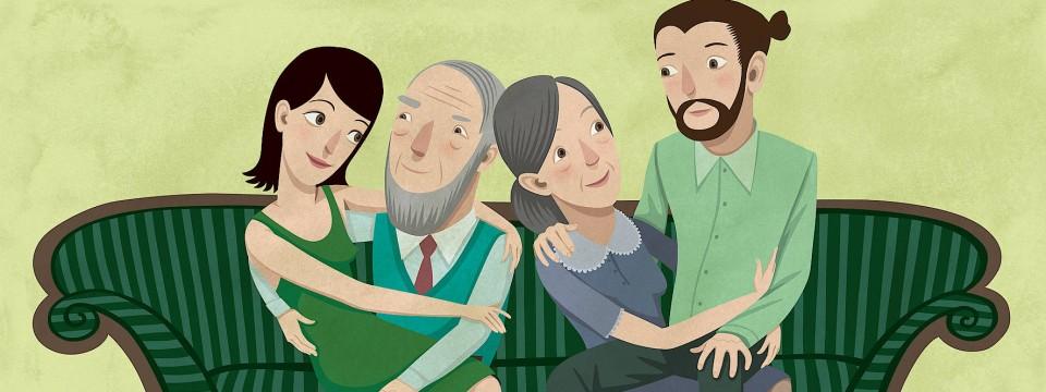 Leben mit den Eltern nach den Ehebeziehungen