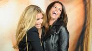 Beste Freundinnen - oder doch nicht? Sylvie van der Vaart, die Ex von Fußball-Profi Rafael, und dessen neue Lebensgefährtin Sabia Boulahrouz