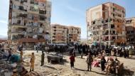 Ort der Zerstörung: Die Kleinstadt Sarpol-e Zahab in der iranischen Provinz Kermanshah wurde von dem Beben schwer getroffen.